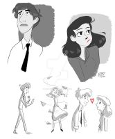 Paperman Sketches by animegirl43