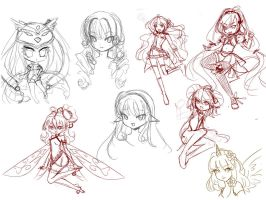Sketch Sheet by YuikoHeartless