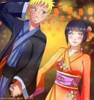 Commission: Naruto x Hinata by Saviroosje