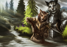 Aravi and Kharjo  - Commission by jodeee