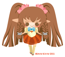 Berri-Blossom chibi for cake by Minty-Kitty-Art