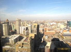 Downtown Detroit From Floor Forty Three by joshietakashima