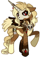 Asphodel - Alicorn of Death by Daffupanda