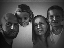 Commission - Family of 4 WiP10 by GreyScale36