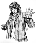 Tom Baker as The Doctor by The-Tinidril