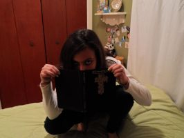 Female L Cosplay 12: Reading by emberstar13