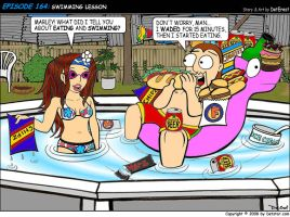 164: Swimming Lesson by detstar