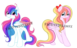 twin rainbow pony Auction :CLOSED: by xWhiteDreamsx