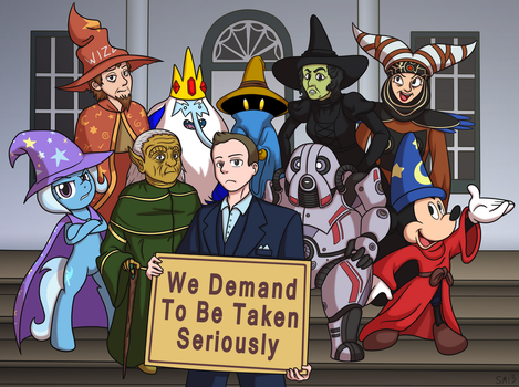Commission: The Alliance of Magicians by serenamidori