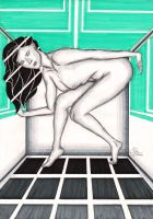 Woman In Box by bamboomc