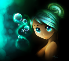 :.Blue Eyed Bubbles.: by Liara-Chan