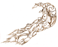 Iron Man pencil by TheEndxTypeANIME