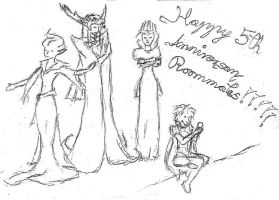 Roommates 5th anniversary tribute by Mali-chan