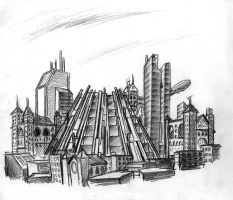 City Of The Future by Captain-Galant