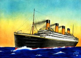 RMS Britannic Postcard Style 2 by Scottvisnjic