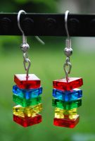 Lego Stack Earrings by forteallegretto