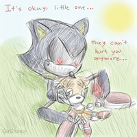 Metal Sonic and Tails Doll by GirGrunny