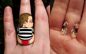 Limited Edition John in Red Pants Ring by otterling