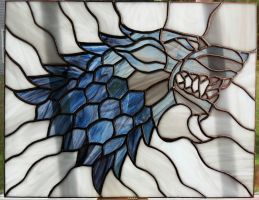 House Stark Stained Glass by Triforce759