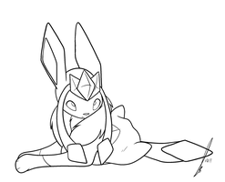 Glaceon Feather Boa Lines by jaclynonacloudlines