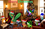 Total Pokemon Group Christmas picture by SusanLucarioFan16