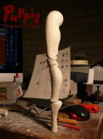 W.I.P: Firefox BJD - leg balance test by PuppitProductions