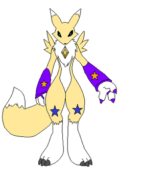 Crystal Gem Renamon (Yellow Crystal) by candy-x-cindy