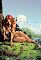 Red Sonja and the Blue Sky by matlopes