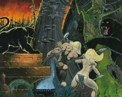 Frazetta Tribute painting by GraphixRob