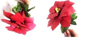 Origami Poinsettia Flower by Lycorisa