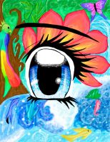 Tropical Paradise Eye by RiddleMaker