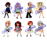 Misc. Adopts: OPEN (1/8) by MysticalDynamite