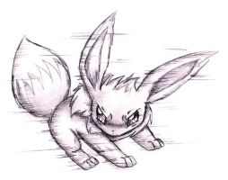 Eevee: prepare to quick attack by shiroiwolf