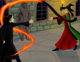 McGonagall's Duel by hyenacub