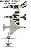 Argentine Air Force  A-4 by bagera3005