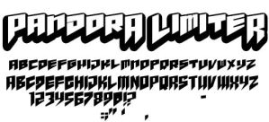 Pandora Limiter - free font by andehpinkard
