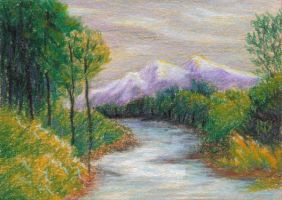 ACEO Mountain View by robertsloan2