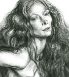 Tilda Swinton Sketch by IndianRose