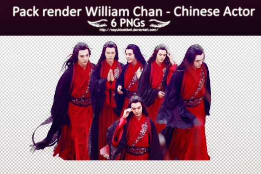 [#20 Pack PNG] William Chan - Chinese Actor by SayukiSakitori