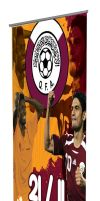 QATAR FOOTBALL rollup stand by razangraphics