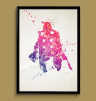 Thor watercolor print poster by ColourInk