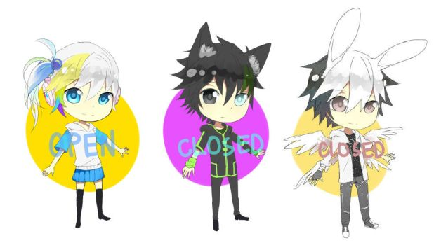 Adoptables 04[OPEN] 05[CLOSED] 06[CLOSED] by 0w0b