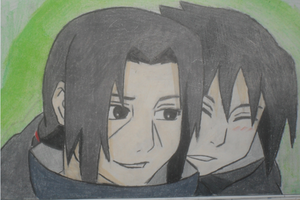Itachi and Little Sasuke by inspired118