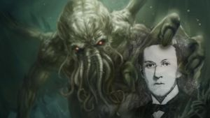 H.P. Lovecraft and Cthulhu Wallpaper by Poolday