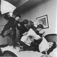 Beatles Pillow Fight by KittyCreamsicleStefi