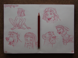 Animation Sketches - The Jungle Book by AngelGanev
