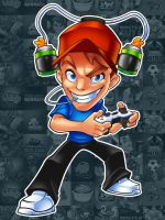 Gamer Mascot Male Version by LanotDesign