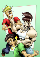 Neck break by punk rock muscle woman by dg89