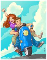 Scootin' on the Scooter by Finfrock