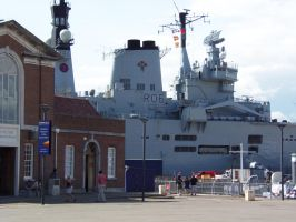 Portsmouth Historic Dockyard - HMS Illustrious by Fragsey